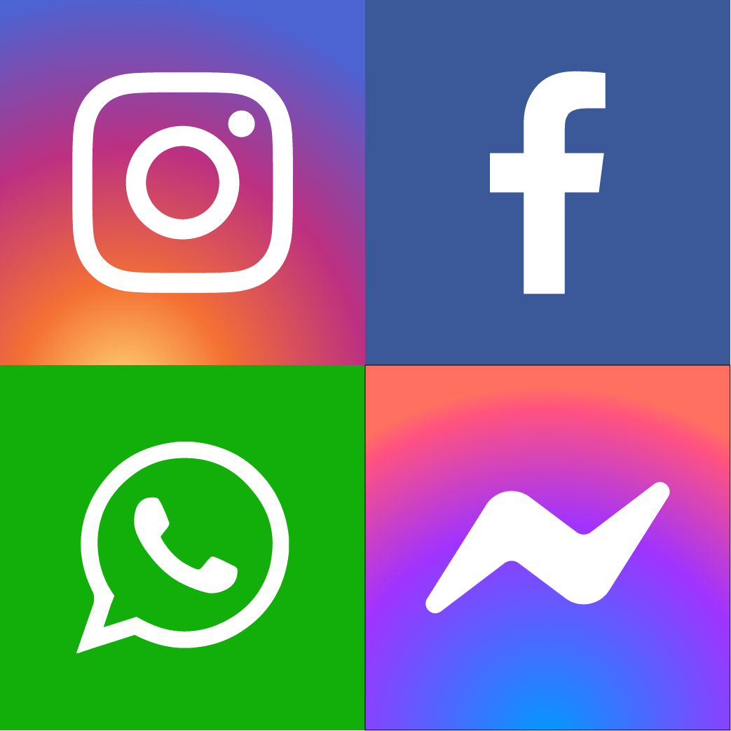 Messenger Facebook Instagram Whatsapp Icons Vectorart Download Free El Fonts Vectors