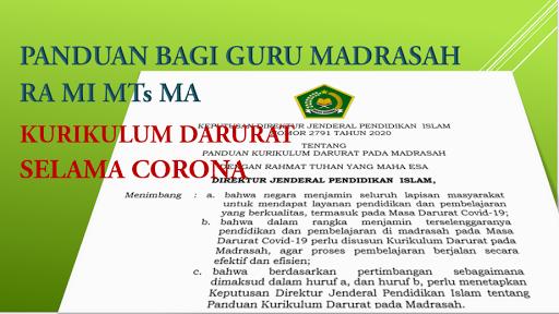 Download Sk Dirjen Pendis Tentang Panduan Kurikulum Darurat Pada Madrasah Pdf 7pelangi Com