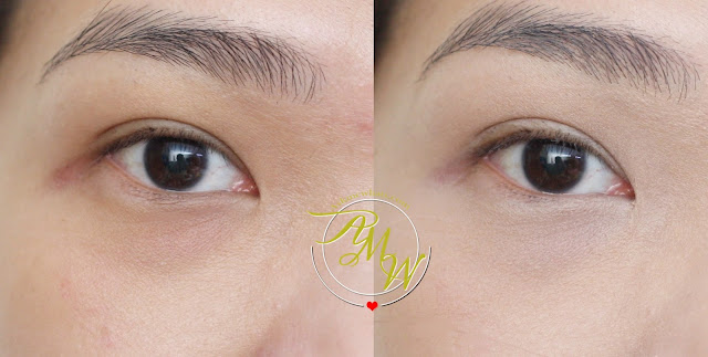 before and after photo of askmewhats wearing Tony Moly Facetone Cover FIX Concealer Vanilla Beige
