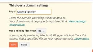 use GoDaddy domain blogger, domain setup blog