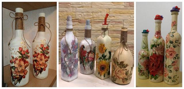 botellas-decoradas-decoupage