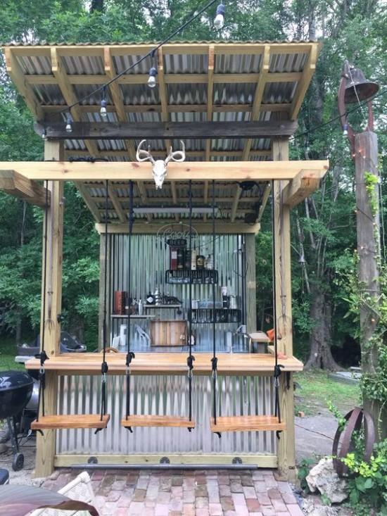 Desain kedai kopi pinggir jalan bajet minimalis