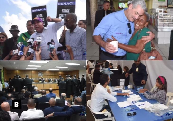 Fotocrónica: Protestas en la JCE, Gonzalo Castillo y Audiencia en el TSE