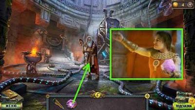 отдаем розовый кварц стражнику в храме в игре наследие 2 пленник