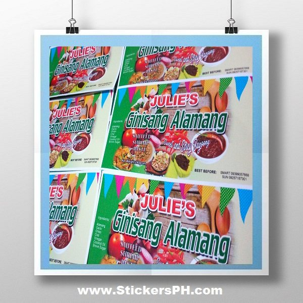 Ginisang Alamang Sticker Labels Philippines