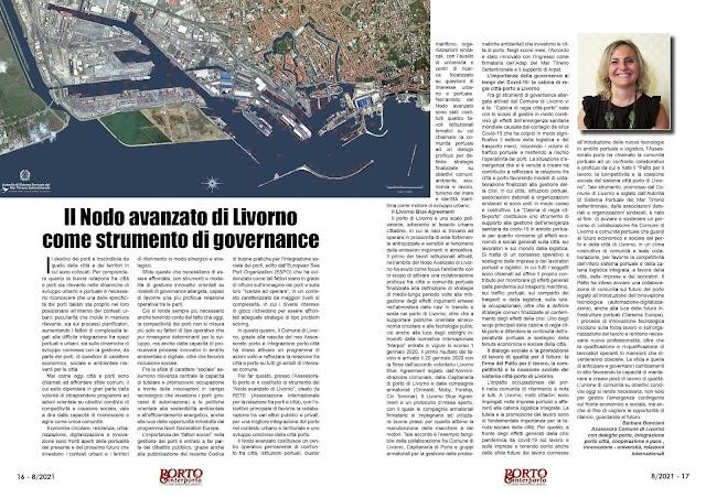 AGOSTO 2021 PAG. 16 - Il Nodo avanzato di Livorno come strumento di governance