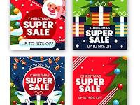 Christmas sale on instagram | EPS | JPG