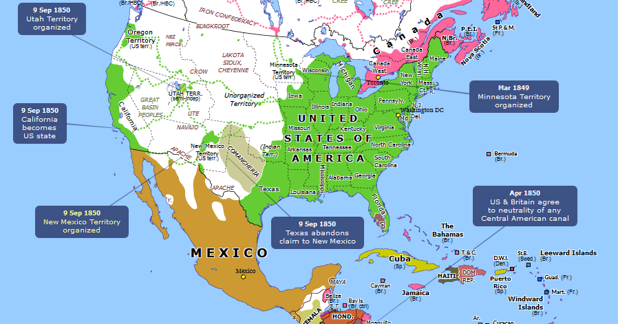 The United States And Territories In Map Of America - Map of us and bermuda