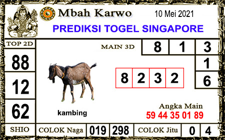 Prediksi Jitu Mbah Karwo SGP45 senin 10-05-2021