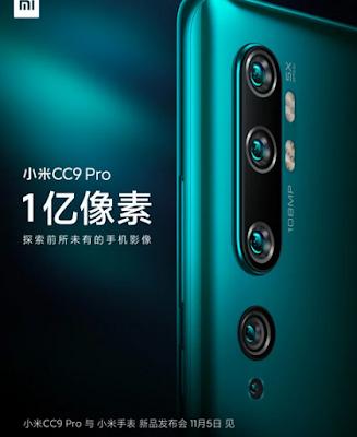 Xiaomi Mi CC9 Pro 12GB RAM, 5 Cameras, 5100mAh Battery Launching Soon