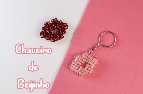 Chaveiro Beijinho / Boquinha de Cristal [TUTORIAL]