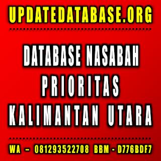 Jual Database Nasabah Kalimantan Utara