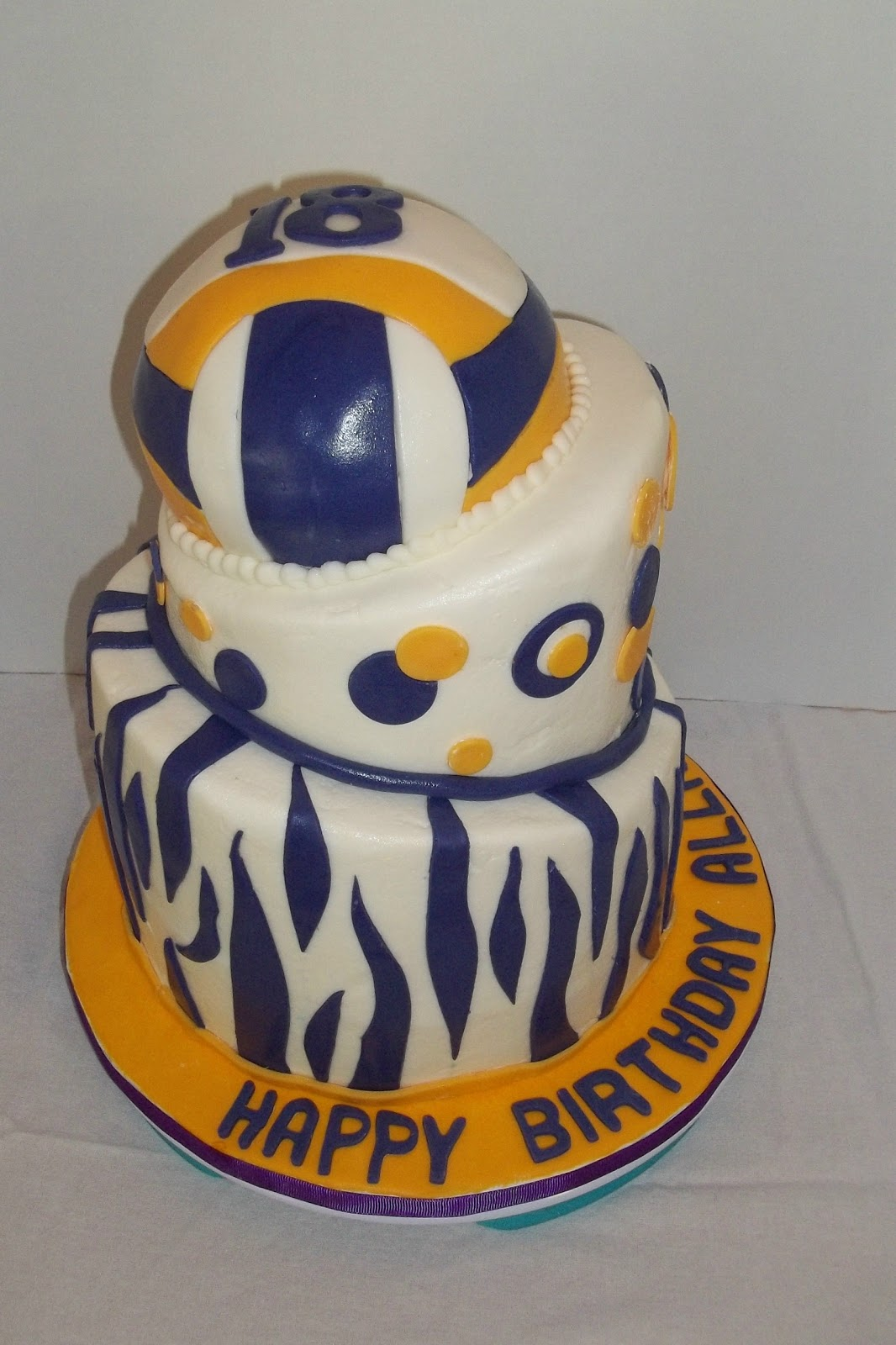 Bobbie S Cakes And Cookies A Topsy Turvy Volleyball Cake