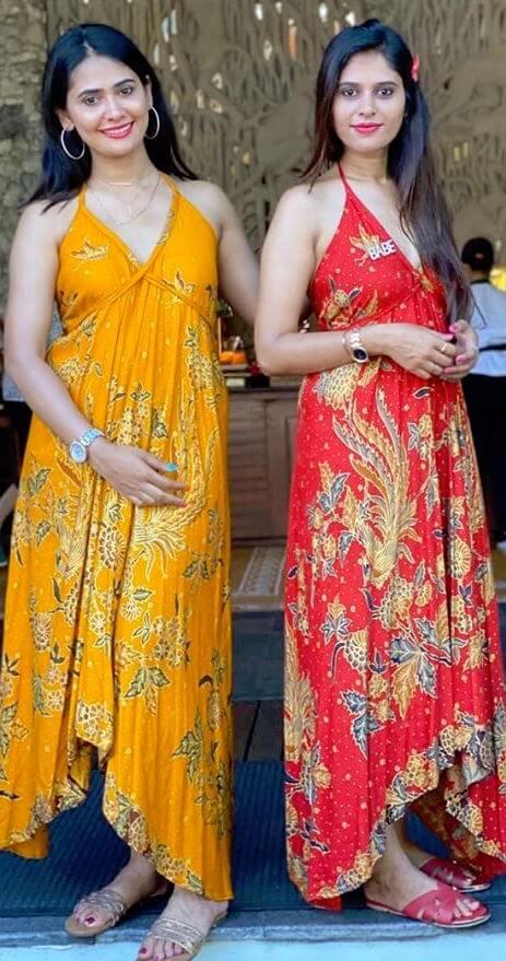 Kavya Gowda with her sister