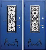 """Дверь с ковкой """"Краб"""""""