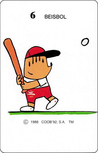 Baraja Cobi Heraclio Fournier Carta 6 Beisbol