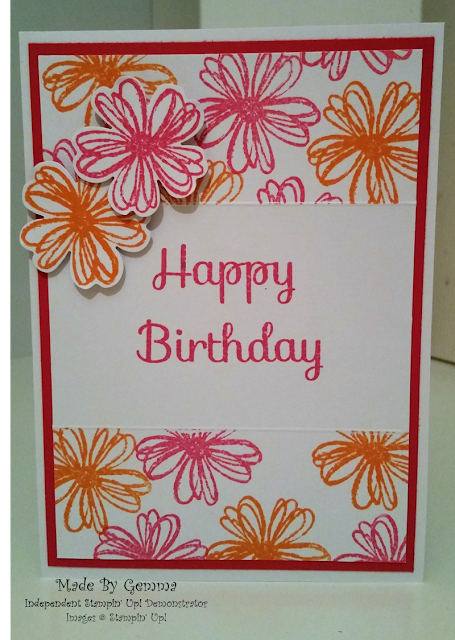 Stampin' Up! Flower shop Melon Mambo