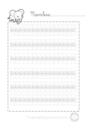 Caligrafia para imprimir vocal e