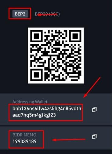 Address Wallet BIDR