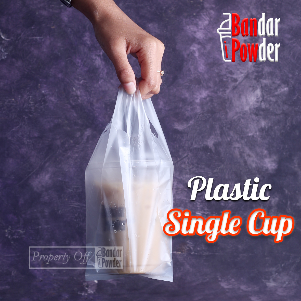 Kantong Plastik Single Cup Kresek Take Away Untuk 1 Pcs Gelas