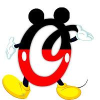 Original alfabeto inspirado en Mickey Mouse O.