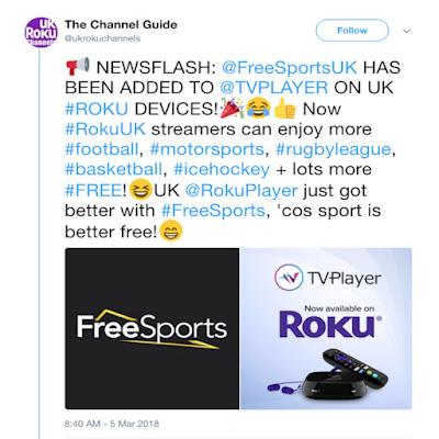 Roku UK Channel Store - Weekly     - UK Roku Channels