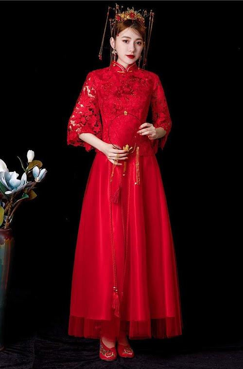 Cheongsam Qipao Style Chinese Wedding Dresses