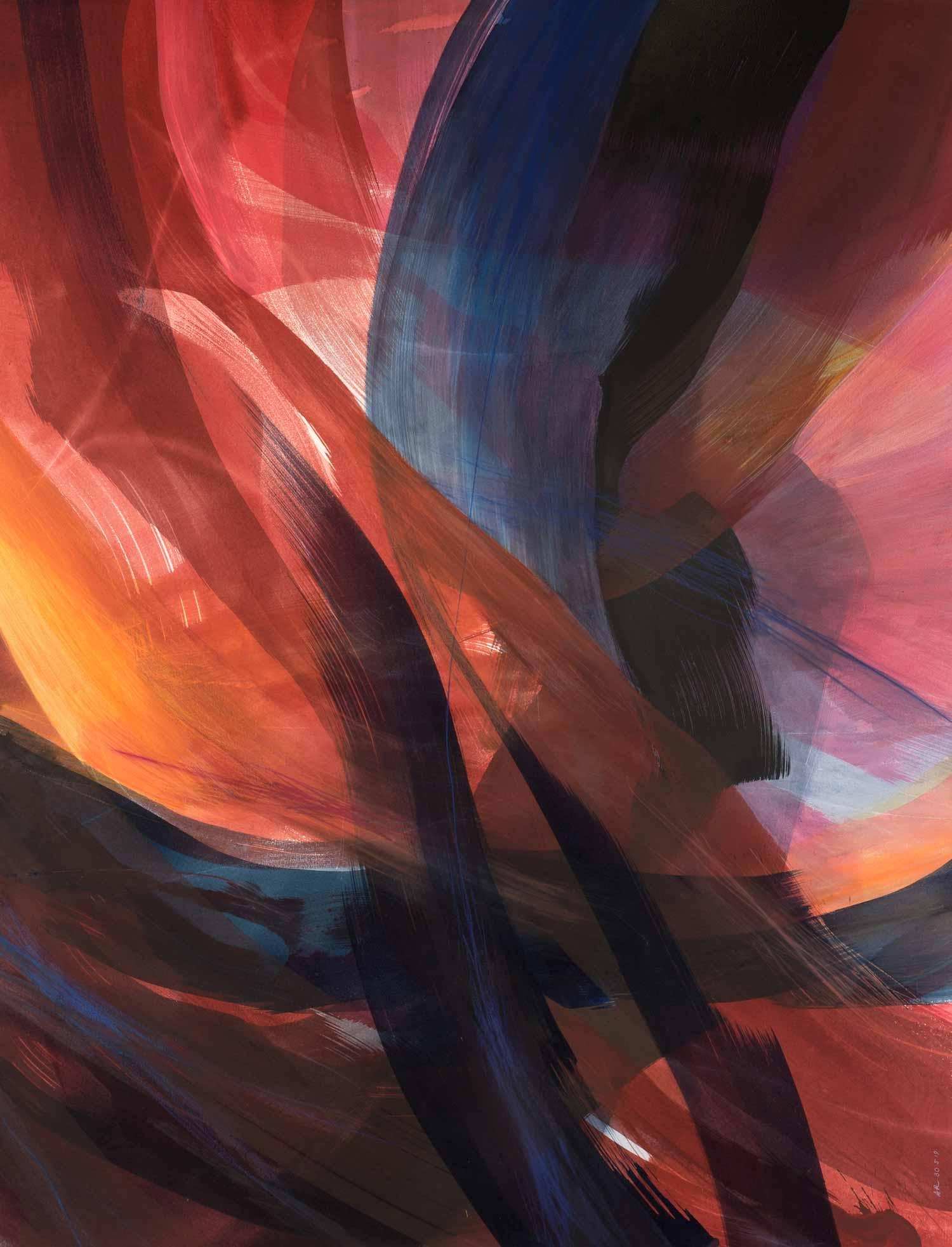 Aquarelle sur papier, 110 x 144 cm, mai 19 © Annik Reymond