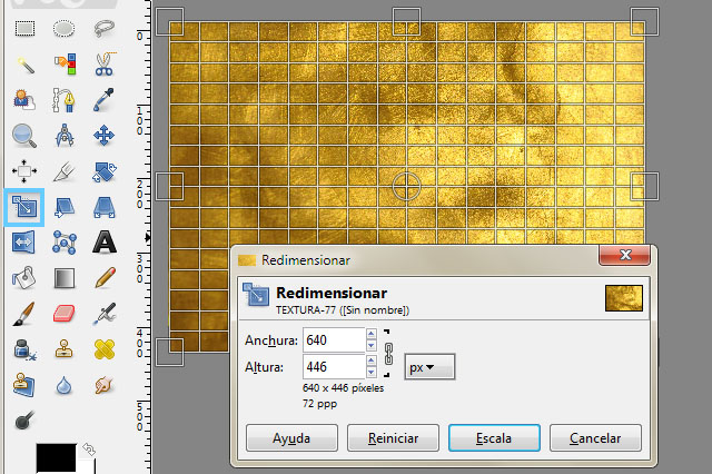 redimensionar capas en Gimp