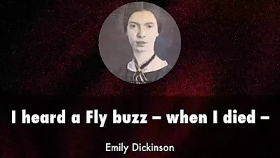 The very famous poem 'I Heard a Fly buzz-when I died' is often considered as representative of Emily Dickinson's style and attitudes. The first line is as arresting as opening as one could imagine. By describing the moment of death, the speaker lets us know that she has already died.