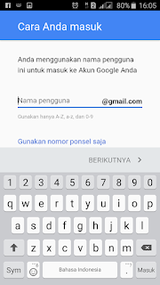 membuat email gmail di android