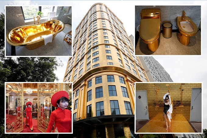 World's 'first' gold-plated hotel opens in Vietnam