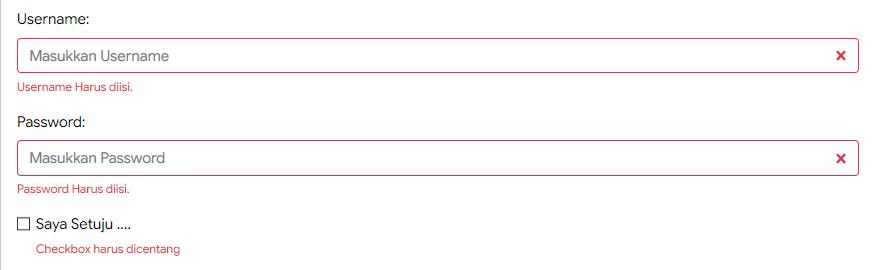 Mengatur Validasi Form pada Bootstrap 4