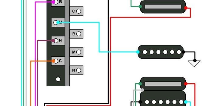 Hermetico Guitar: Wiring Diagram: Super Strato HSH mod 11