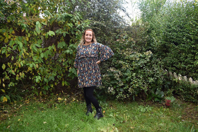 My new winter wardrobe with Look of the Day multi floral babydoll dress