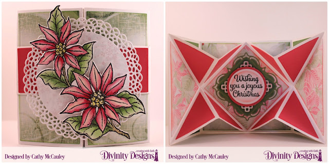 Stamp/Die Duos: Joyful Christmas, Paper Collection: Christmas Collection 2018, Custom Dies: Pop-Out Card with Layers, Fancy Circles, Circles, Pierced Circles, Belly Band,  Layered Lacey Squares
