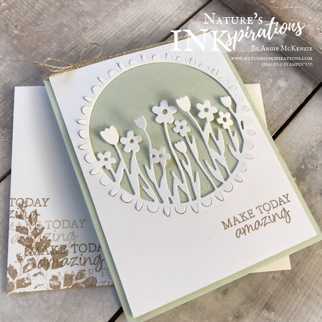 By Angie McKenzie for 3rd Thursdays Blog Hop; Click READ or VISIT to go to my blog for details! Featuring the 2020 2nd Release SAB Rise & Shine stamp set and the Sending Flowers Dies  from the Coordination Product Release from February 4 - March 31, 2020, while supplies last; #stampinup #positivethoughtsstampset #naturesinkspirations #sendingflowersdies #riseandshinestampset #sucoordinationproductrelease #2020saleabration2ndrelease  #subtleembossingfolder #cardtechniques #thirdthursdaysbloghop #linenthread