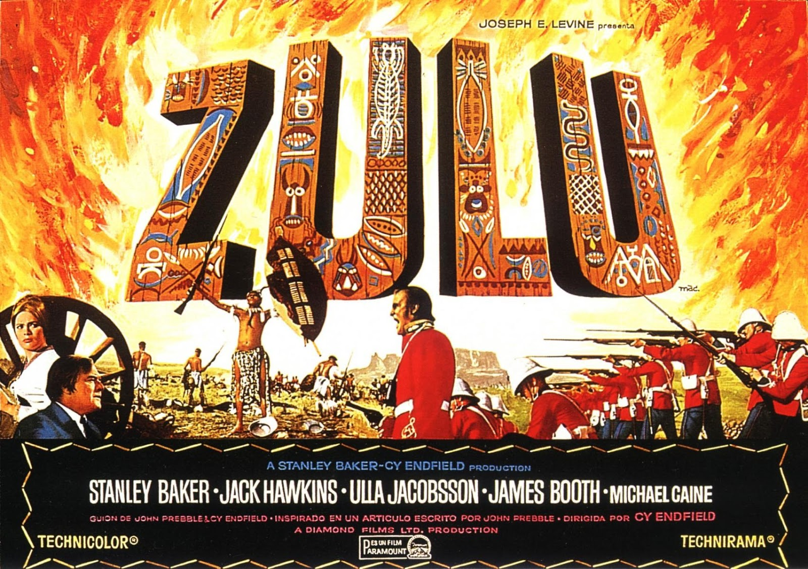 963cb7ea62e5a The 1964 film Zulu is one of my favourite war films. It is a dramatic  story