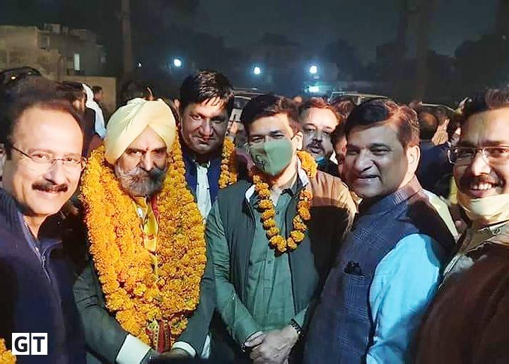 एमएलसी चुनाव जीतने पर, डॉ. हरि सिंह ढिल्लो का जोरदार स्वागत
