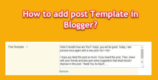 How to add custom or blog template in blogger