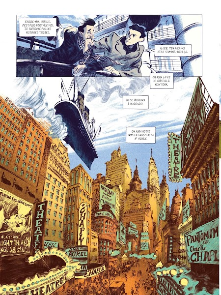 Chaplin tome 1 : Chaplin en Amérique de Laurent Seksik et David François aux éditions Rue de Sèvres page 12
