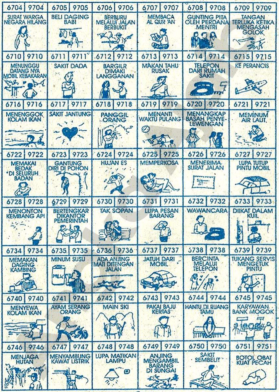 Buku Mimpi 4D Bergambar 6704-6751