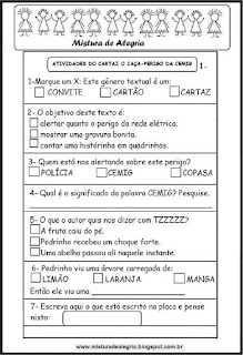 Cartaz em sala de aula