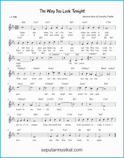 chord the way you look tonight lagu jazz standar