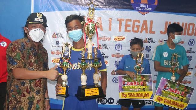PS Puslat Afat Raih Juara Liga I Tegal Junior