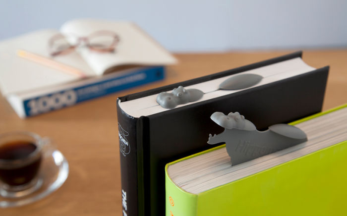 Hippo In Water Bookmark