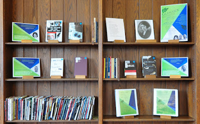 Display of books by poet judges