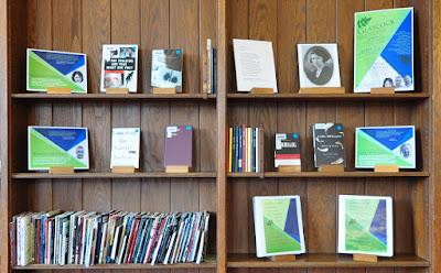 Display of books by poet judges
