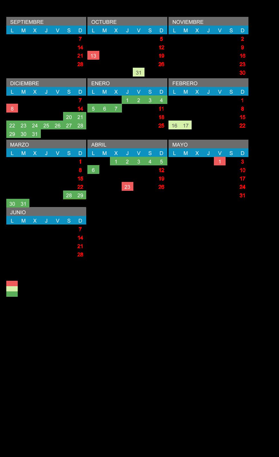Calendario Educacyl.Ampa El Morco Calendario Escolar 2014 2015