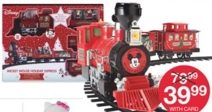 Disney Giant 36 pc. Mickey Mouse Holiday Express Train set$